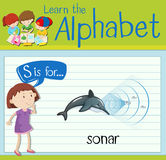 Flashcard letter S is for sonar Stock Image