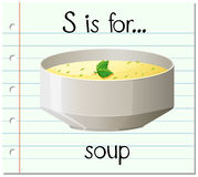 Flashcard letter S is for soup Royalty Free Stock Image