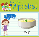 Flashcard letter S is for soup Stock Photography
