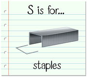 Flashcard letter S is for staples Stock Image