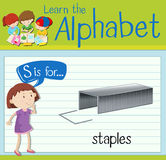Flashcard letter S is for staples Stock Photo