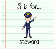 Flashcard letter S is for steward. Illustration Royalty Free Stock Image