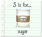 Flashcard letter S is for sugar Royalty Free Stock Photo