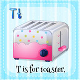 Flashcard letter T is for toaster Stock Images