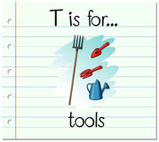Flashcard letter T is for tools Royalty Free Stock Image