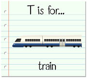 Flashcard letter T is for train Royalty Free Stock Images