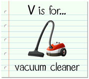 Flashcard letter V is for vacuum cleaner Royalty Free Stock Image