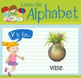 Flashcard letter V is for vase Stock Images
