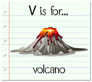 V Is For Volcano Clipart Flashcard Letter M Is ...