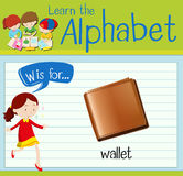 Flashcard letter W is for wallet Stock Photos