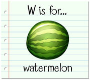 Flashcard letter W is for watermelon Royalty Free Stock Photo