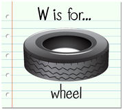 Flashcard letter W is for wheel Royalty Free Stock Photography