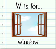 Flashcard letter W is for window Stock Image