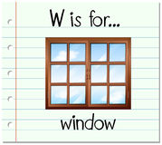 Flashcard letter W is for window Stock Photography