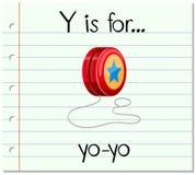 Flashcard letter Y is for yo-yo Stock Photo