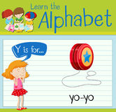Flashcard letter Y is for yo-yo Royalty Free Stock Photography