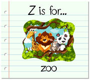 Flashcard letter Z is for zoo Royalty Free Stock Images