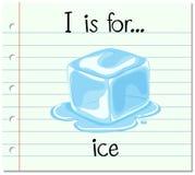 Flashcard list jestem dla lodu ilustracja wektor