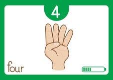 Flashcard numéro quatre Image libre de droits