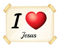 A flashcard showing the love of Jesus Royalty Free Stock Photography
