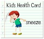Flashcard with word sneeze Stock Photos