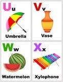 Flashcards αλφάβητου Στοκ Εικόνες