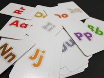 Flashcards. Letters of the alphabet Stock Image