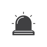 Flasher , Alarm lamp icon vector Stock Photo