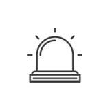 Flasher , Alarm lamp line icon Royalty Free Stock Image