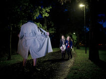 Flasher at night Royalty Free Stock Photography