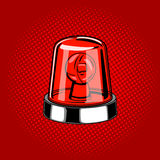 Flasher siren red color comic book style vector Stock Photography