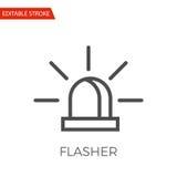 Flasher Vector Icon Stock Photo