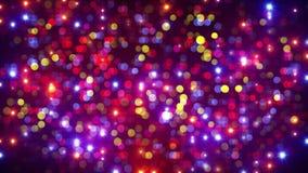 Flashes de lumière de partie de disco et fond de bokeh Photos stock