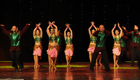 Flashes of green vest-India memories-the Austria's world Dance Royalty Free Stock Photo