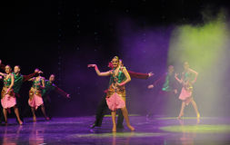 Flashes of green vest-India memories-the Austria's world Dance Royalty Free Stock Photography