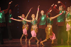 Flashes of green vest-India memories-the Austria's world Dance Stock Images