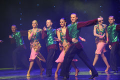 Flashes of green vest-India memories-the Austria's world Dance Stock Photography