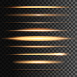 Flashes light golden lines, vector glowing blur. Glowing golden light vector flashes and abstract lights lines or stripes. glow stripes effect. Yellow gold neon Royalty Free Stock Images