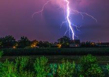 Flashes of lightning Stock Photo
