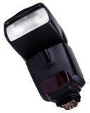 Flashgun. Photo of the camera flashgun isolated on the white background Royalty Free Stock Photography
