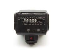 Flashgun. For camera on white background Stock Photos