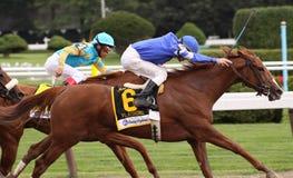 Flashing. SARATOGA SPRINGS, NY - AUG 8: Flashing, under jockey Richard Migliore, wins the Test Stakes at Saratoga Race Course, Saratoga Springs, NY, on August 8 Stock Photo