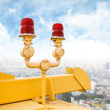 Flashing beacon on bridge Stock Photos