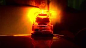 Flashing beacon. Orange flashing and revolving light. stock footage