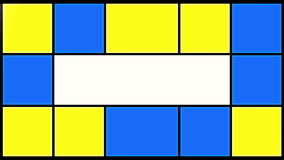 Flashing blue and yellow squares stock footage