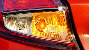 Flashing car turn signal indicating the left direction stock video footage