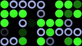 Flashing circles in grey and green stock footage