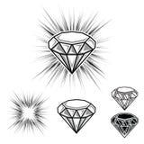 Flashing diamond vector cartoon illustration Royalty Free Stock Photography
