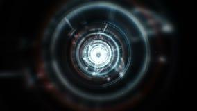 Flashing digital tunnel stock video