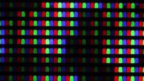 Flashing digital TV Screen Pixels Macro stock video